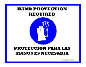 Hand Protection Required Sign