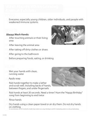 Hand Washing Poster (English)