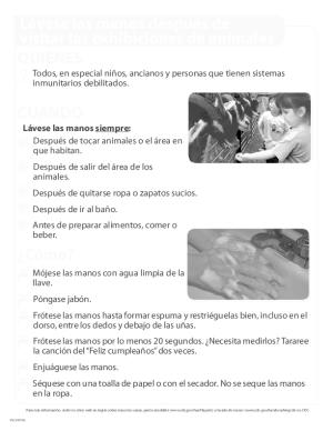 Hand Washing Poster (Spanish)