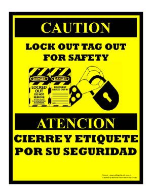 Lock Out Tag Out Sign