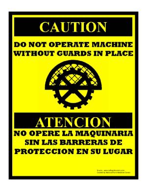 Machine Guard Sign