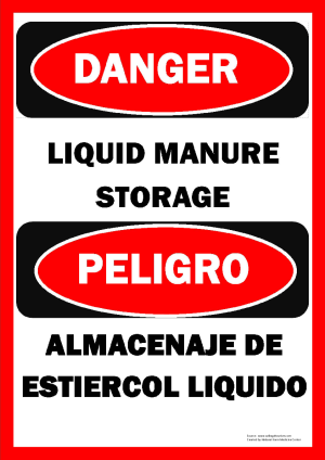 Manure Storage Sign