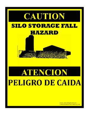 Silo Storage Hazard Sign