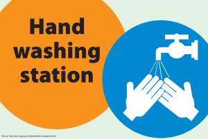 Hand Washing Station Sign