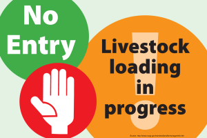 Livestock Loading Sign