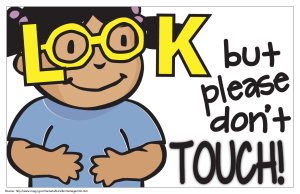 Look No Touch Sign