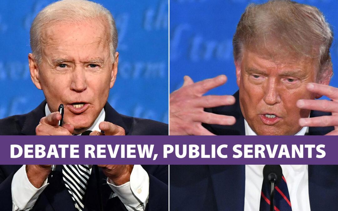 trump, biden, debate, public servants, poway, john riley project, jrp0180