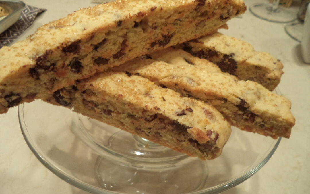 Orange Pecan Biscotti and a Happy, Healthy 2014