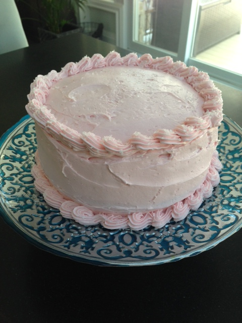 Chocolate Cake, Raspberry Buttercream, Bittersweet Chocolate Ganache and Peanut Butter Frosting