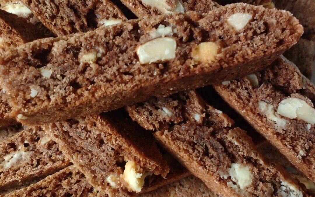 Double-Chocolate Hazelnut Biscotti