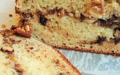 Hazelnut Streusel Bread