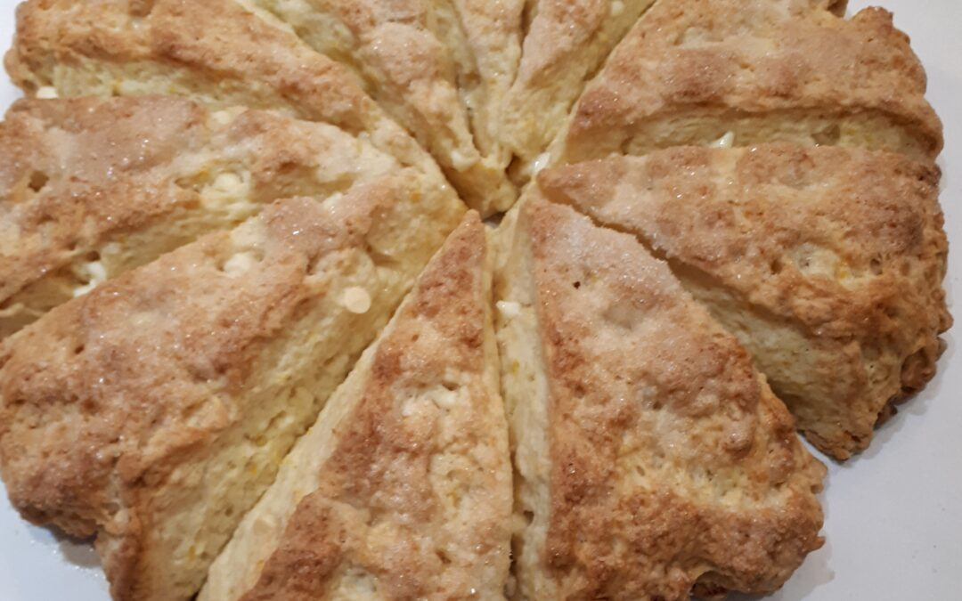 White Chocolate Orange Scones