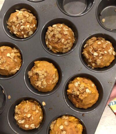 Pumpkin Walnut Streusel Muffins