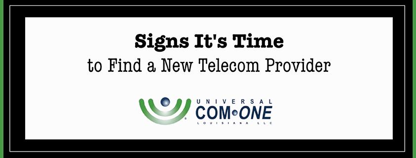 Find New Telecom Provider