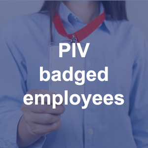 PIV badged employees