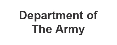 The Department Of The Army Is A SCI Customer