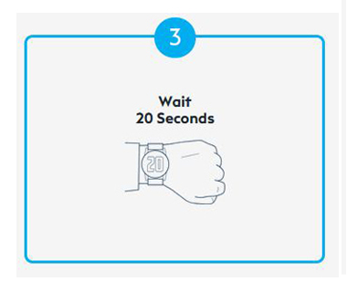 Step 3 Of Using CleanSlate Is To Wait 20 Seconds, Wash Your Hands While You Wait