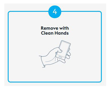 Step 4 Of Using CleanSlate Is To Remove Your Device With Clean Hands