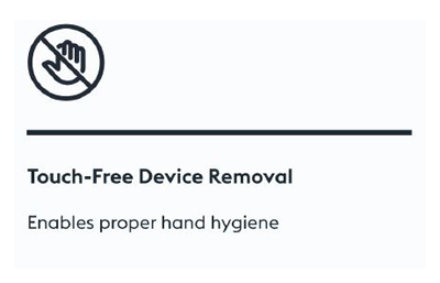 Touch-free Device Removal, The CleanSlate UV Enables Proper Hand Hygiene