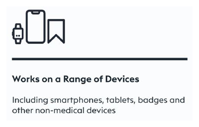 CleanSlate UV works on a range of devices, including smartphones, tablets, badges and other non-medical devices