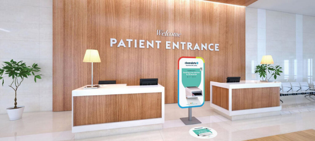 cleanslate uv available at hospital entrance