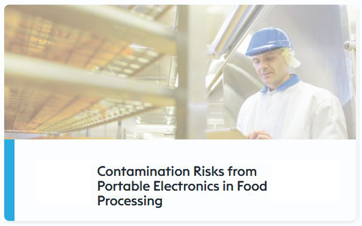 contamination risks from portable electronics in food processing