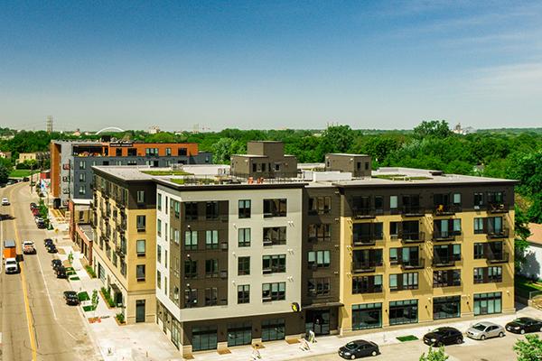 N&E Apartments aerial photo
