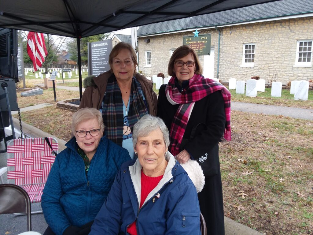 John Marshall Daughters volunteering at Wreaths Across America