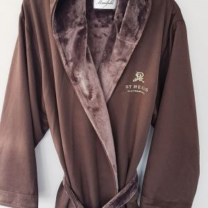 MICROFIBER SHIMMER LINED HOODED ROBE