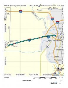 Map (Davis to Sacramento)