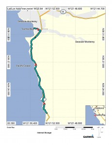 Map (17 miles up the CA1 to Carmel)