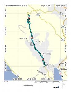 Map (Felton to Tin Can Ranch)