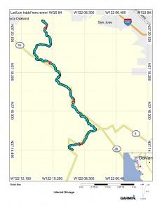Map (Tin Can Ranch to Palo Alto)
