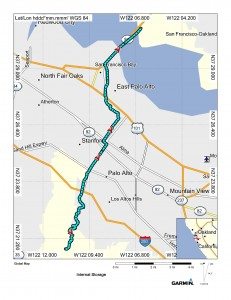 Map (Palo Alto to Fremont)