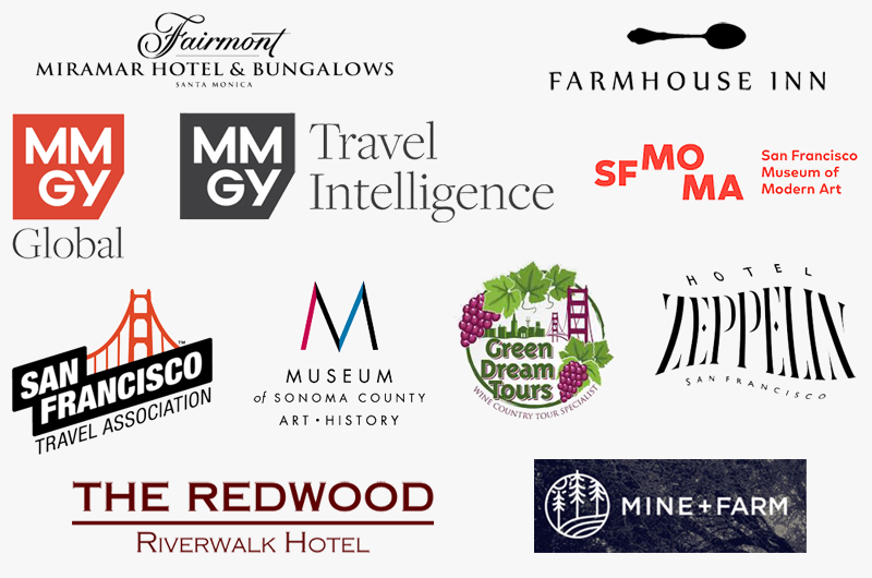Destinations, Hotels, and Attractions logos