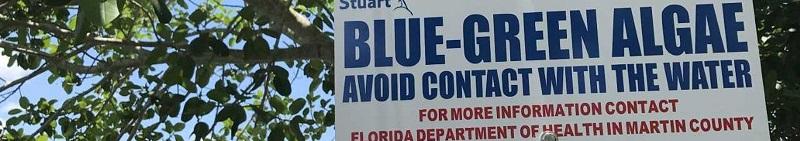 Toxic algae warning, Stuart, Florida