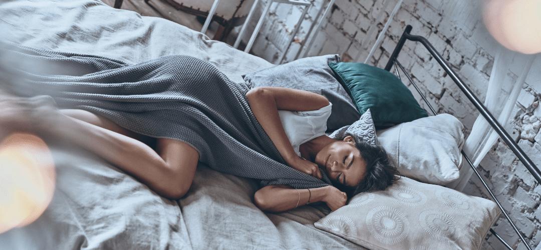Woman Suffering from Sleep Apnea