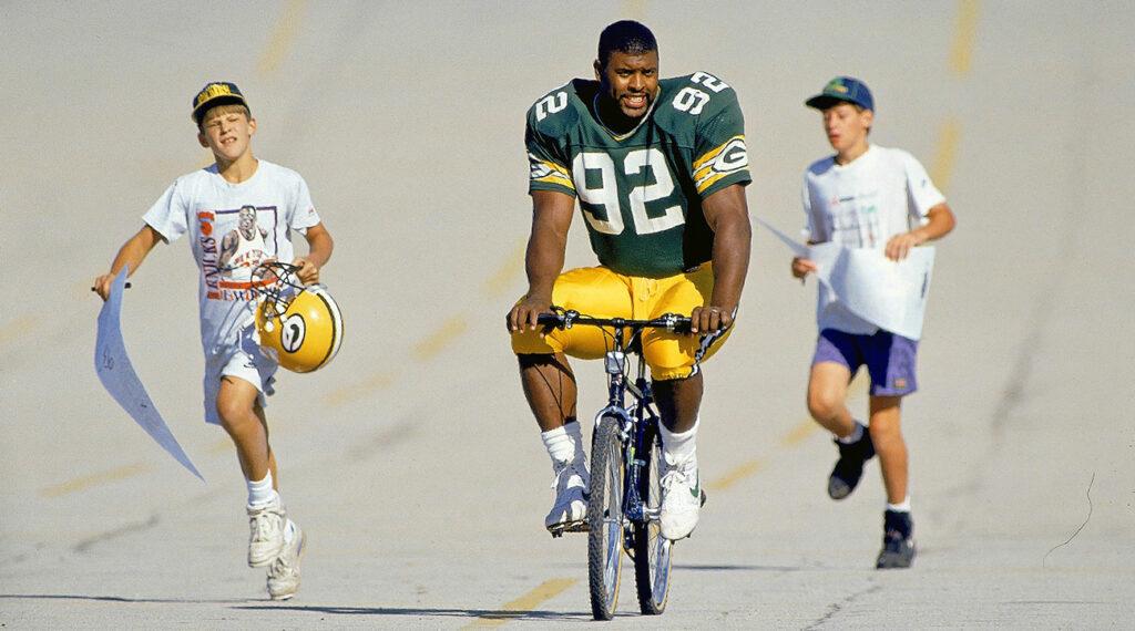 Reggie White on Bike Died Prematurely from Sleep Apnea