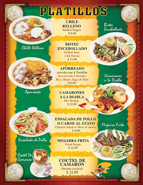 Tacos Madrigal Menu Page 5