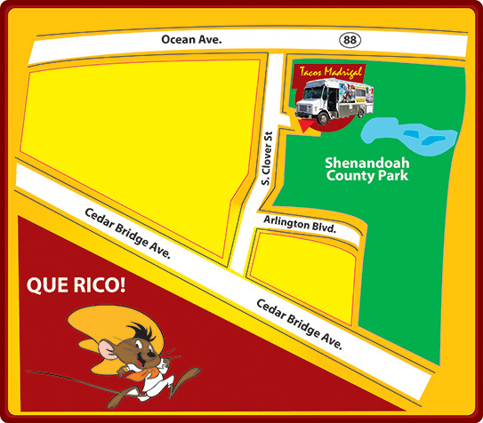 Map for Taco Truck