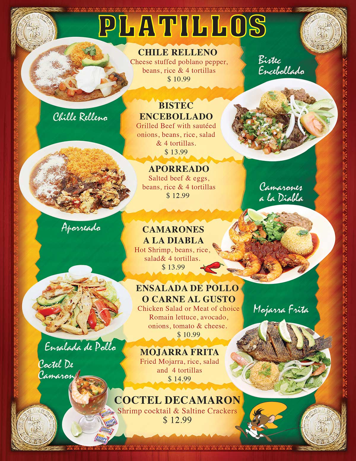 TACOS MADRIGAL MENU PAGE 5