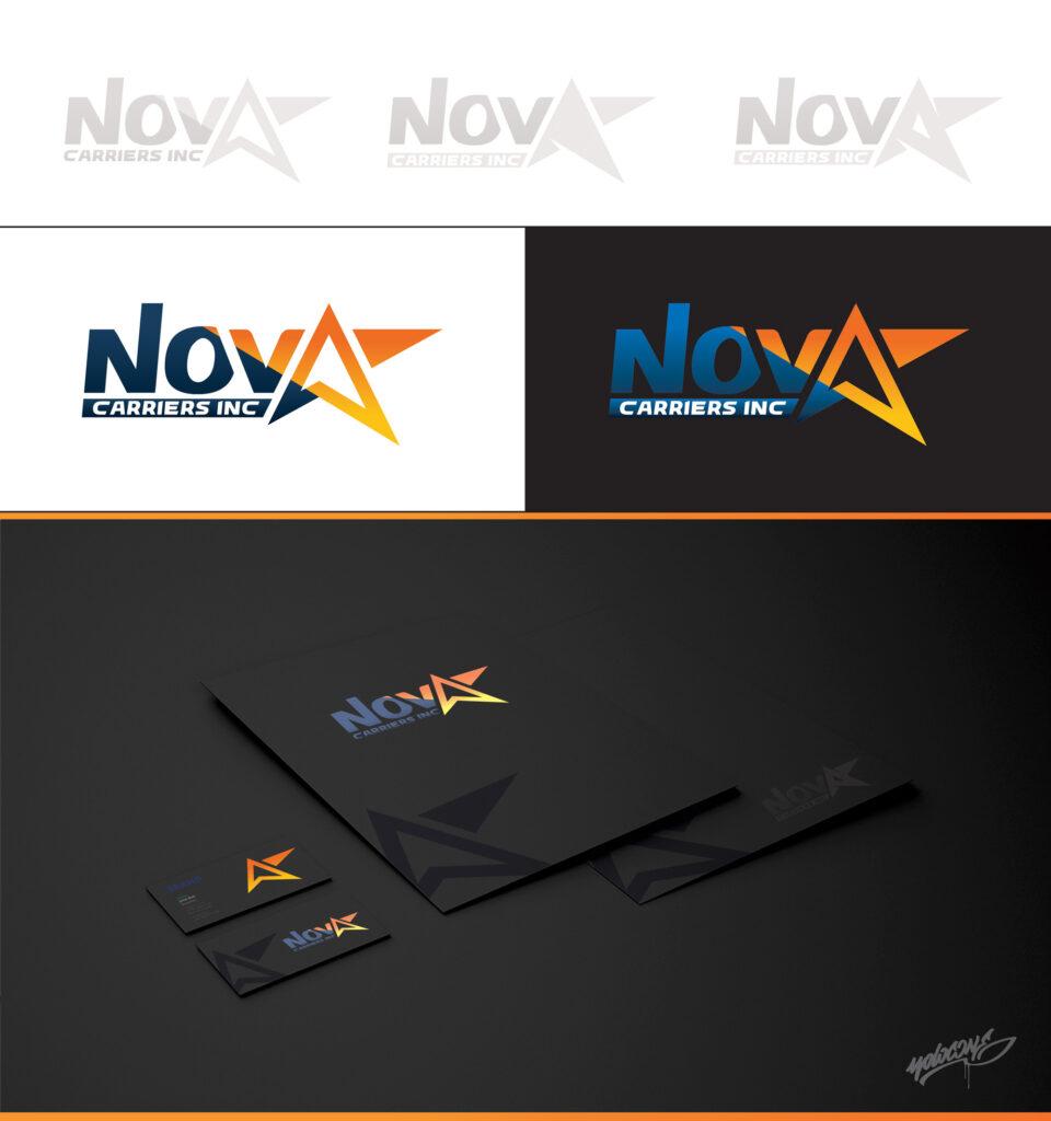 Nova Carriers Logistics Company - Branding by Yolocone