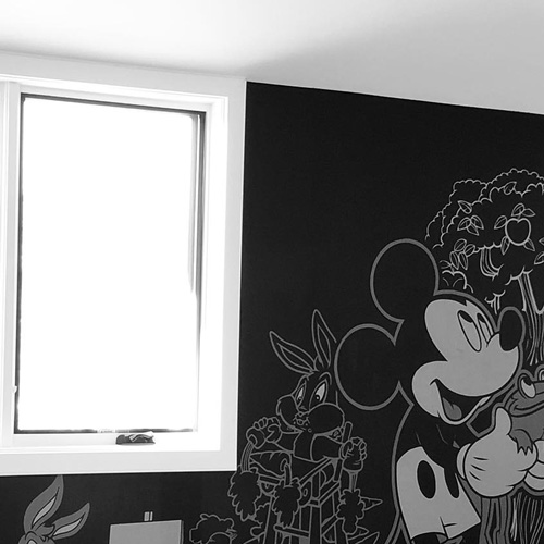 Coloring Chalk Board Wall