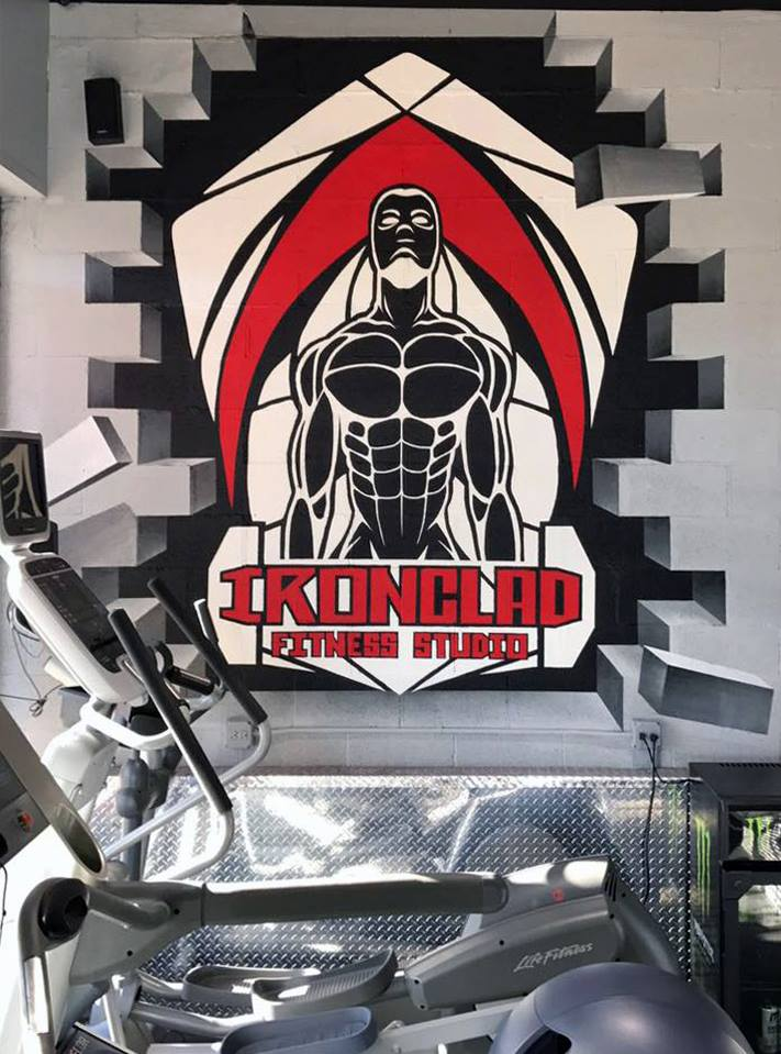 Ironclad Fitness - spraypaint - Yolocone