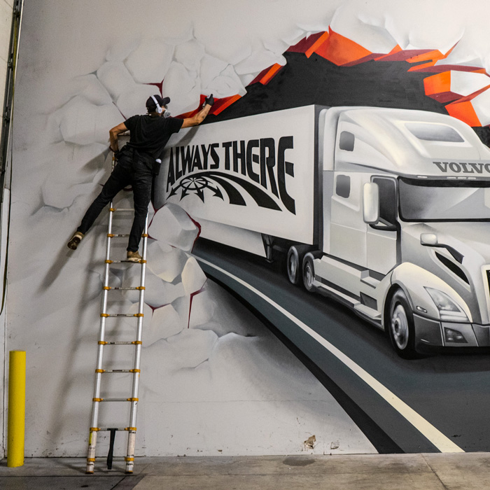 Volvo Truck Mural