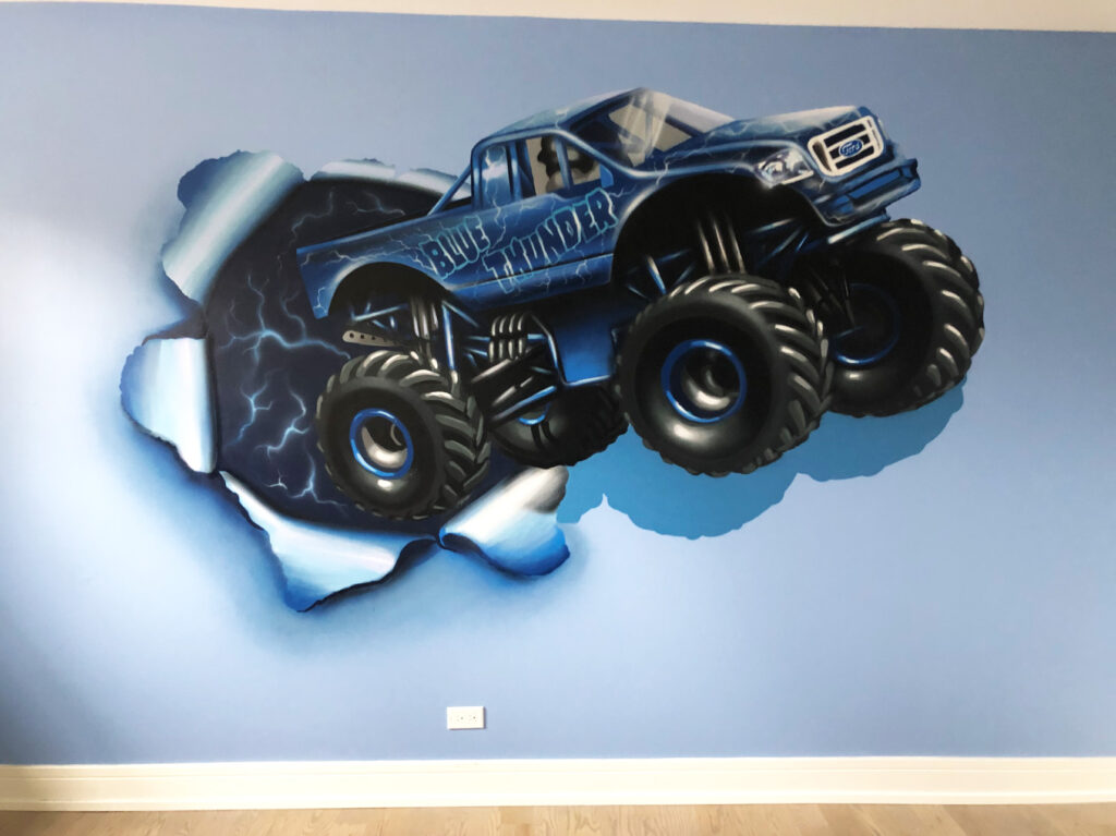 Blue Thunder Mural by Yolocone