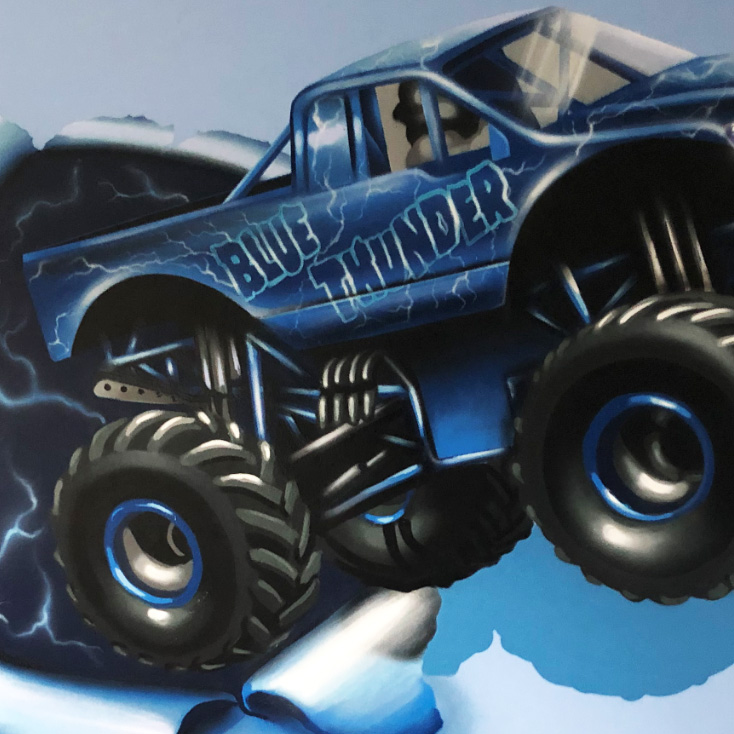 Blue Thunder Mural