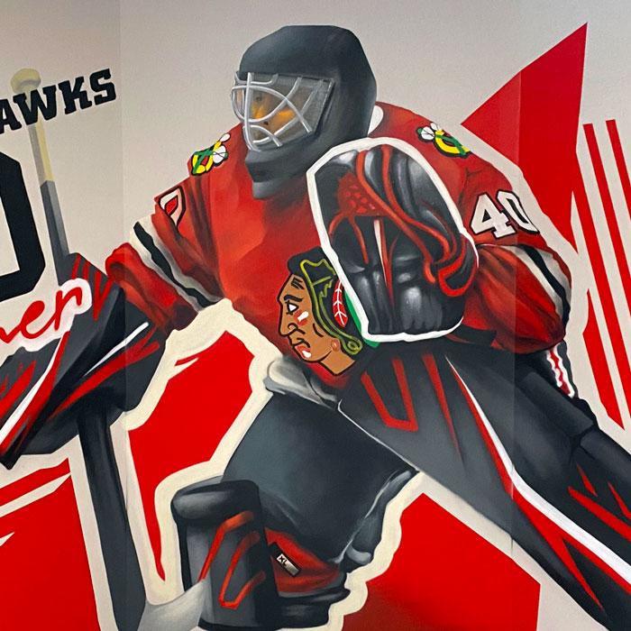 Chicago Blackhawks Mural