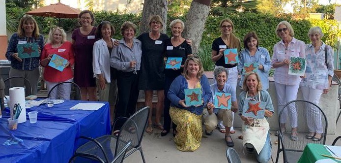 Starfish painting class at Mental Wellness Center 2019