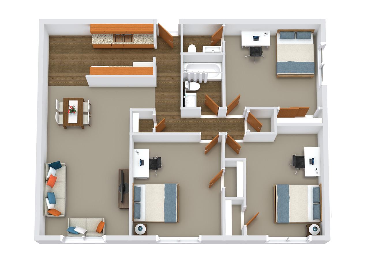 element apartments floor plans 3x1.5